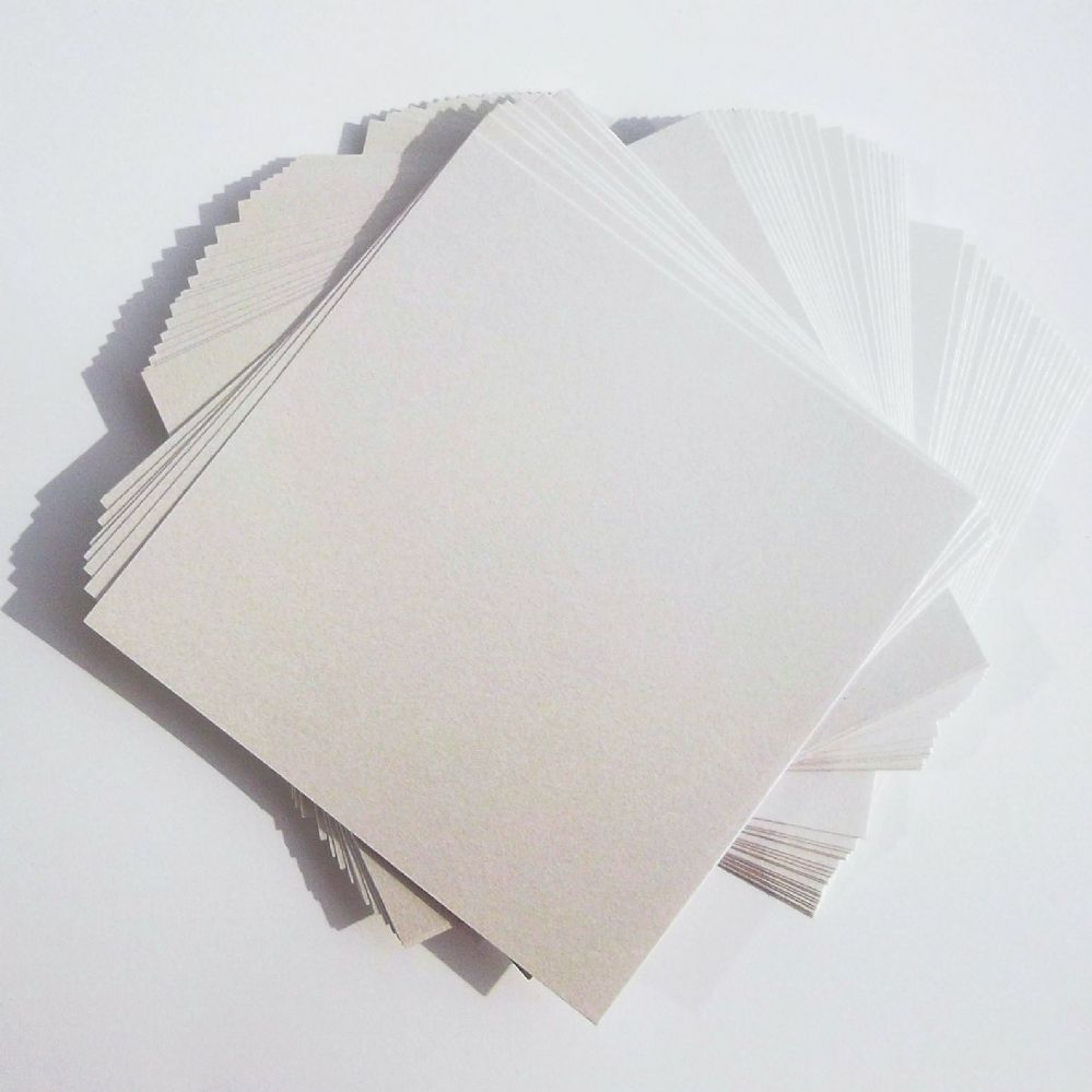 25 sheets x 12 x12 pearl white card stock double sided for Craft paper card stock