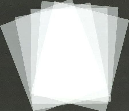 100 X A4 Frosted Acetate 500 Micron Thick
