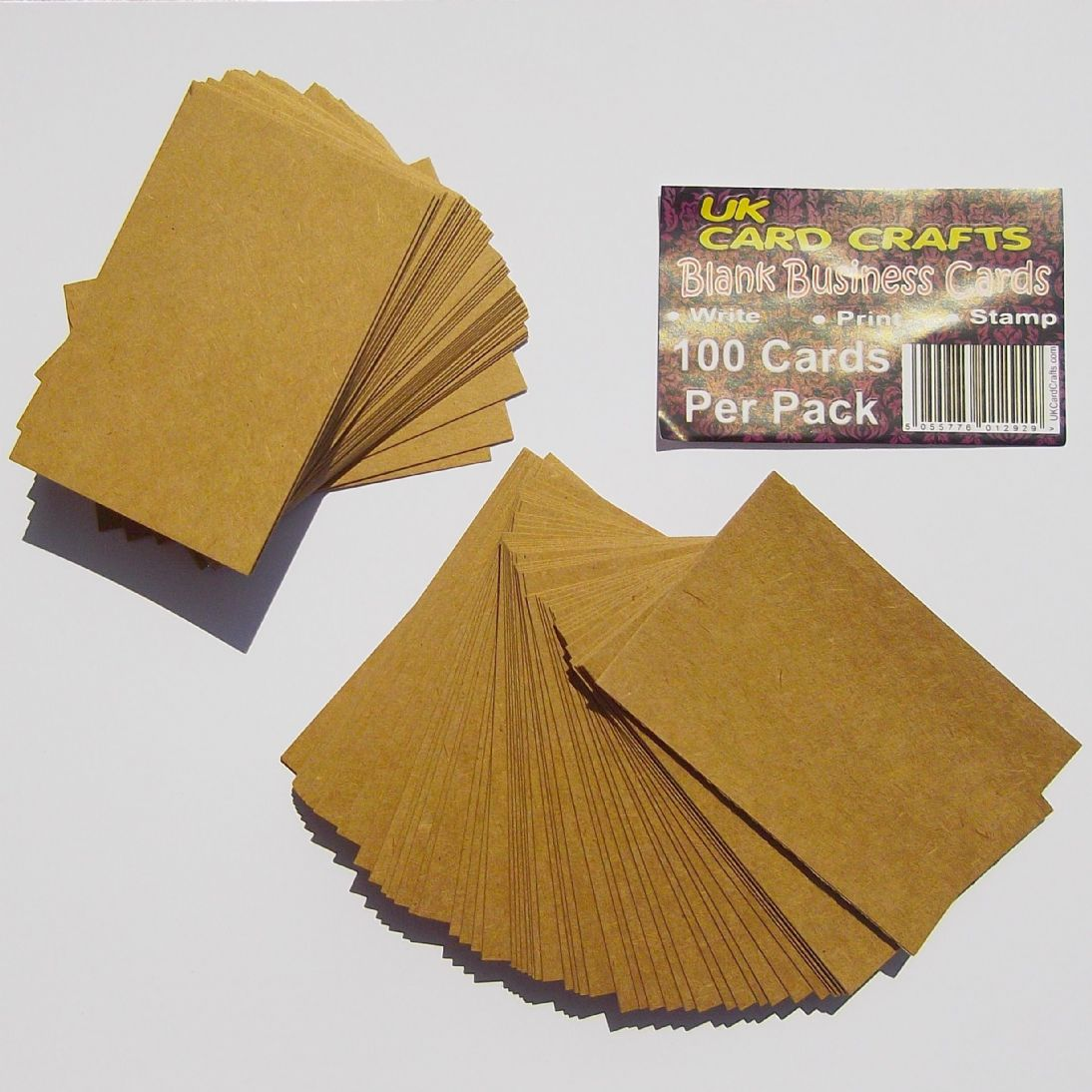 100 x kraft blank business cards 270gsm brown kraft card colourmoves