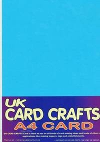 A4 Blue Card 160gsm X 40 Sheets - UKCC0183