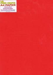 Intense Red Paper x 10 Sheets 80gsm - UKCC0204